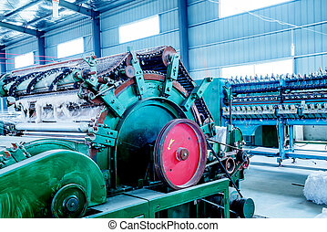 Cotton gin mill - Textile workshop, a working cotton gin.