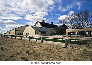 Stable - paddock in the foreground
