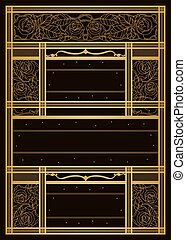 Art Nouveau Style Background - A customisable design...