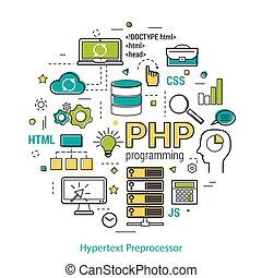 PHP line art concept