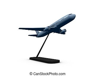 Airline - 3d image, replica air plane with stand holder