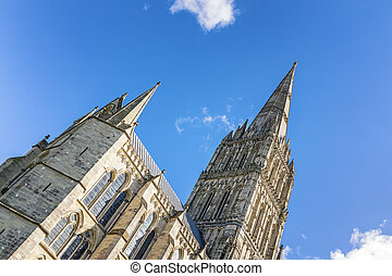 Salisbury Cathedral Spire - The spire of Salisbury Cathedral...