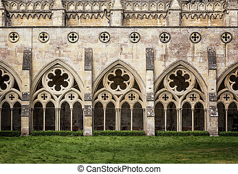 Salisbury Cathedral Cloisters - The cloisters of Salisbury...