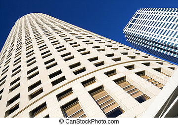 Looking up in Downtown Tampa