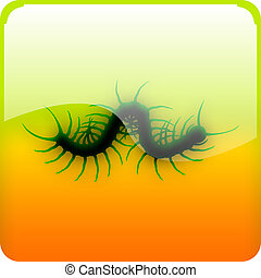 Centipede icon - Icon with black centipede