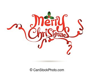 Merry Christmas text free hand design isolated on white background vector illustration 002