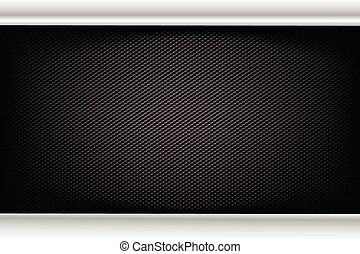 Abstract background dark and black carbon fiber vector...