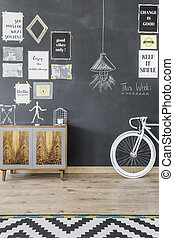 Stimulate your creativity - Shot of a blackboard wall with...