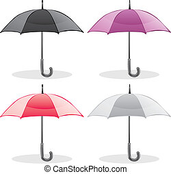 illustration of colored umbrellas
