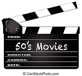 50's Movies Clapperboard - A typical movie clapperboard with...