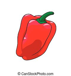 Bright red sweet pepper. Vegetable. - Bright red sweet...