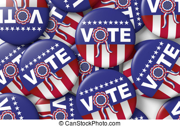 Vote american presidential elections button