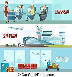 International Airport Horizontal Banners - International...