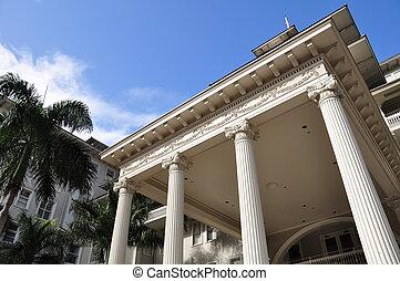 Hotel in Waikiki - Detail of Waikiki hotel, also known as...
