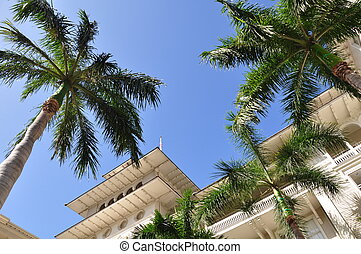 Hotel in Waikiki - Detail of Waikiki hotel, also known as...
