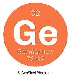 Germanium chemical element. Metalloid in carbon group, a...