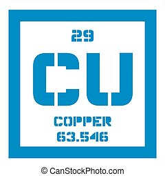 Copper chemical element. Soft metal with high thermal and...