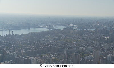pan shot new york from empire state part I - pan shot new...