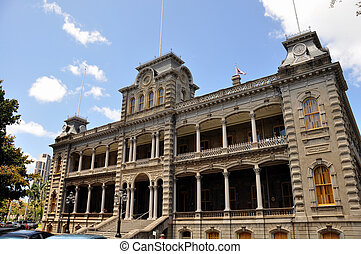 Iolani Palace, Honolulu, Hawaii - Iolani Palace in Honolulu,...