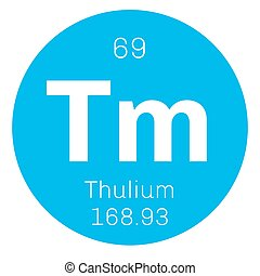 Thulium chemical element. Member of the lanthanide series....
