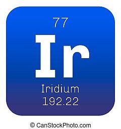 Iridium chemical element. Transition metal of the platinum...