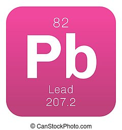Lead chemical element. Soft and heavy metal of dull grayish...