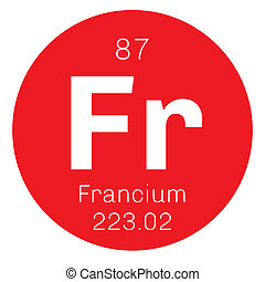 Francium chemical element. Francium is a highly radioactive...