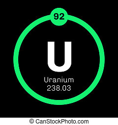 Uranium chemical element. Uranium is weakly radioactive...