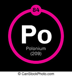 Polonium chemical element. Rare and highly radioactive...