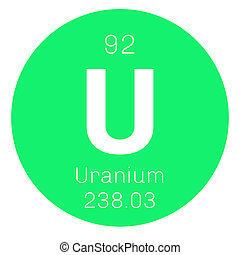 Uranium chemical element. Uranium is weakly radioactive...