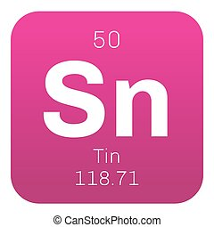 Tin chemical element. One of the most abundant elements....