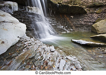 Winter in Ohio - Blue Hen Falls