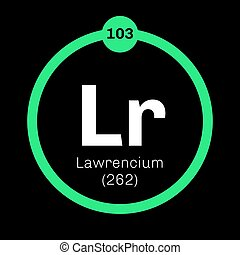 Lawrencium chemical element Synthetic element Colored icon...