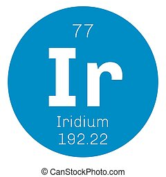 Iridium chemical element Transition metal of the platinum...