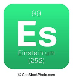 Einsteinium chemical element Synthetic element Colored icon...