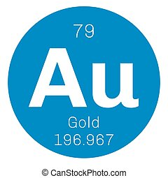 Gold chemical element One of the least reactive chemical...
