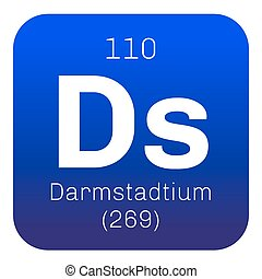Darmstadtium chemical element Extremely radioactive...