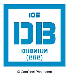 Dubnium chemical element. Radioactive synthetic element....