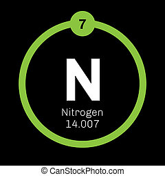 Nitrogen chemical element. Common element in the universe....