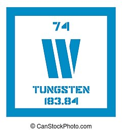 Tungsten chemical element Also known as wolfram Colored icon...