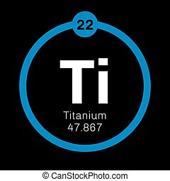 Titanium chemical element Transition metal of high strength...