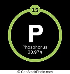 Phosphorus chemical element Highly reactive element Colored...
