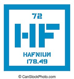 Hafnium chemical element Transition metal Colored icon with...