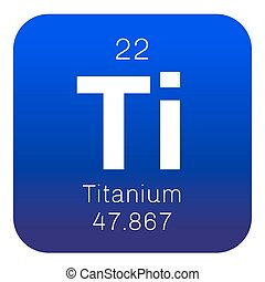 Titanium chemical element. Transition metal of high...