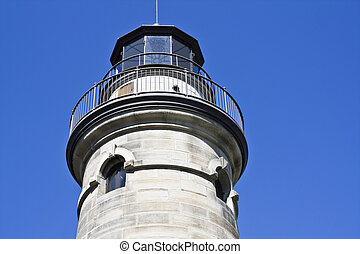 Erie Lighthouse - seen during sunny day