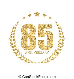 Template Logo 90 Years Anniversary Vector Illustration EPS10