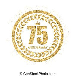 Template Logo 75 Years Anniversary Vector Illustration EPS10