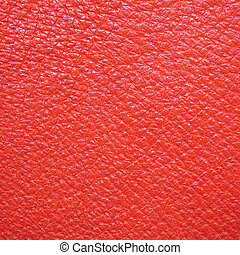Red Leather Macro Background - Red leather texture, wide...
