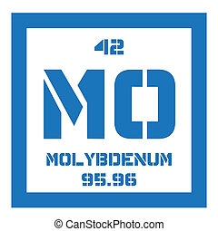 Molybdenum chemical element. Has sixth-highest melting point...
