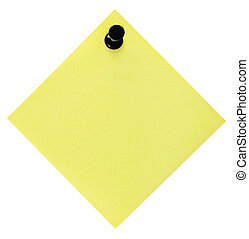 Blank Yellow To-Do List With Pushpin